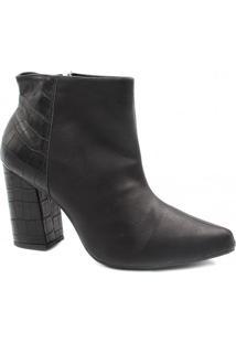 Bota Cano Curto Zariff Shoes Ankle Boot Zíper