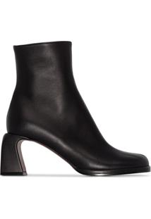 Manu Atelier Chae 65Mm Ankle Boots - Preto