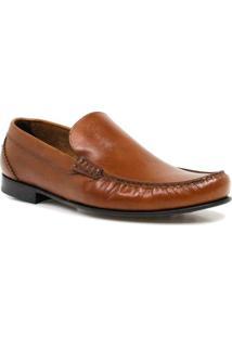 Sapato Zariff Shoes Loafer Couro - Masculino-Caramelo
