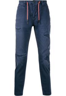 Frankie Morello Calça Jeans Com Ajuste - Azul