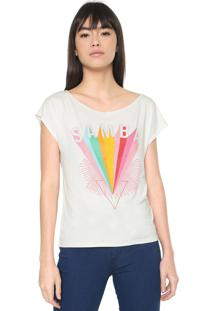 Camiseta Malwee Estampada Off-White