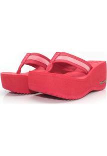 Tamanco Plataforma Anabela Feminino Barth Shoes Hibisco - Feminino-Vermelho