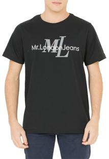 Camiseta Mr. London Logo Preta