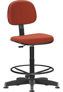 Cadeira Caixa Alta Secretária Giratória Laranja Escuro