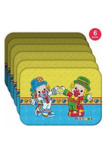 Jogo Americano Patati Patatá Love - Produto Licenciado Kit Com 6 Pçs