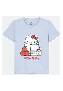 Blusa Alongada Em Algodão Com Estampa Hello Kitty