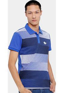 Camisa Polo Rg 518 Piquet Listrado Masculino - Masculino