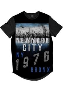 Camiseta Longline Bsc New York City 1976 Sublimada Masculina - Masculino