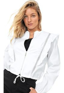 Jaqueta Lez A Lez Bordado Branca - Branco - Feminino - Algodã£O - Dafiti