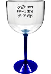 2 Taças Gin Transparente Com Base Azul Personalizada Para Live