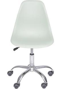 Cadeira Eames Dkr Rodizio- Verde Claro & Prateada- 9Or Design