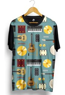 Camiseta Bsc Music Full Print - Masculino