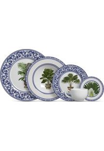 Aparelho De Jantar 20 Peças Imperial - Alleanza - Branco / Azul