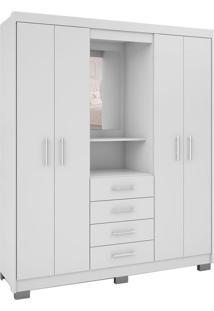Guarda-Roupa Com Espelho Casal Primacy 4 Pt 4 Gv Branco