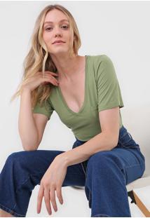 Blusa Maria Filã³ Bolso Verde - Verde - Feminino - Algodã£O - Dafiti