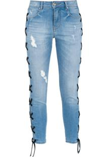 4e36e84566 ... Amapô Calça Jeans Skinny Cropped  Lace  - Azul