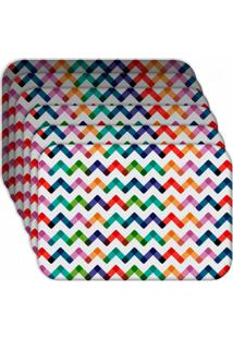 Jogo Americano - Love Decor Colorful Abstract Kit Com 6 Peças.