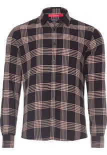 Camisa Masculina Regular Fortaleza - Preto