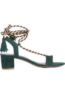 Sandália Feminina Cordão Trançado - Verde