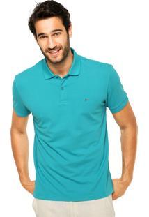 Camisa Polo Aramis Bordado Fenda Verde