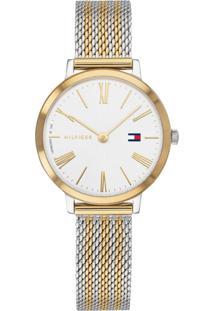 d09ed876f70 ... Relógio Tommy Hilfiger Feminino Aço Prateado E Dourado - 1782055