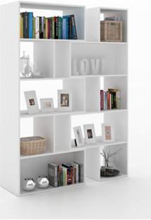 Estante Para Livros 5 Prateleiras Plenty 1 Ornament Contemporâneo Manfroi Branco
