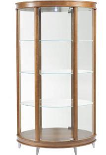 Cristaleira Half Moon Pes Aluminio Corpo Nogal 99 Cm (Larg) - 3935 Sun House