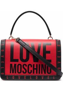Love Moschino Pochete Bicolor Com Logo - Vermelho