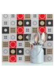 Adesivo De Azulejo Moderno Geométrico 15X15 Cm Com 36Un