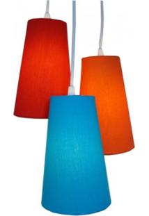 Luminária Triplo Colors Crie Casa Colorido