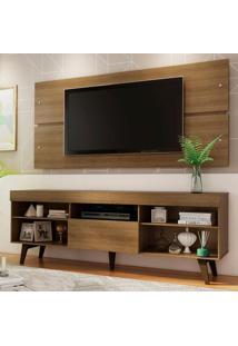 Rack Com Painel Para Tv Até 65 Polegadas Madesa Miami Com Pés - Rustic