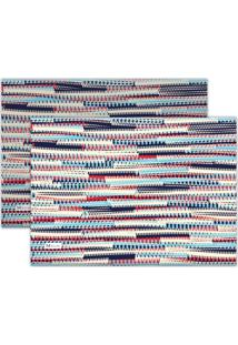 Kit 2Pçs Jogo Americano Mdecor Abstrato 40X28Cm Azul