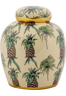 Vaso Decorativo De Porcelana Havaí P - Linha Pineapple