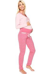 Pijama Malwee Liberta Maternity Rosa