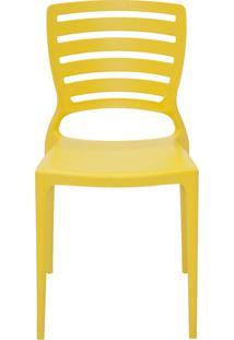 Cadeira Sofia Sem Braço Encosto Vazado Amarelo Tramontina