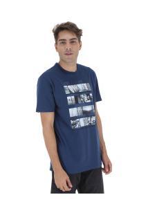Camiseta Rusty Silk Mixtake Sb - Masculina - Azul Escuro