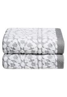 Jogo De Toalhas Para Lavabo Mosaic 30 Cm X 50 Cm 2 Peças - Home Style