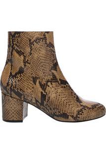 Bota Block Heel Neutral Snake | Schutz