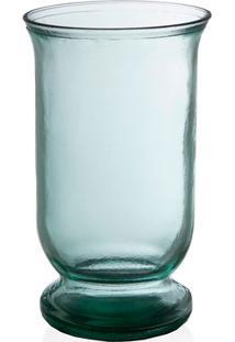 Vaso Em Vidro Transparente Flat 25Cm