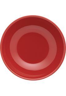 Conjunto 6 Pratos Fundos Oxford 20Cm Cerâmica Unni Red Vermelho