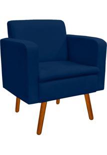 Poltrona Decorativa EmãLia Suede Azul Marinho - D'Rossi - Azul Marinho - Dafiti