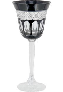 Taça De Cristal Lodz Para Água Ii De 220 Ml - Black