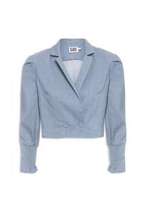 Blazer Feminino Gal Shirt - Azul
