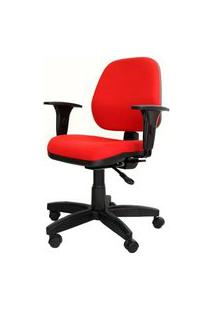 Cadeira Corporate Executiva Cor Vermelho Com Base Nylon - 43942 Vermelho