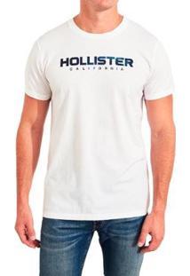 Camiseta Hollister Gráfica Masculina - Masculino-Branco