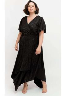 Vestido Midi Almaria Plus Size Pianeta Transpassad