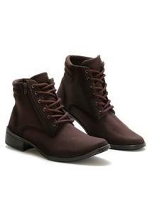 Bota Casual Cano Curto Option Shoes Feminina Marrom