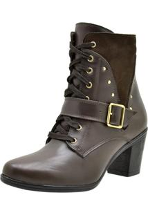Bota Atron Shoes Ankle Boot Café