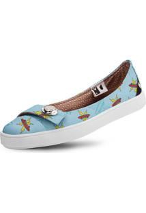 Sapatilha Usthemp Womanly Vegano Casual Art Thundershape Azul