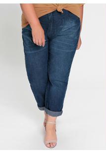Calça Jeans Plus Size Com Bolsos Funcionais
